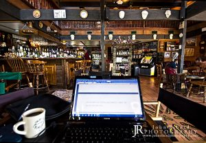 Interior of Agora Coffee Shop, Houston, TX